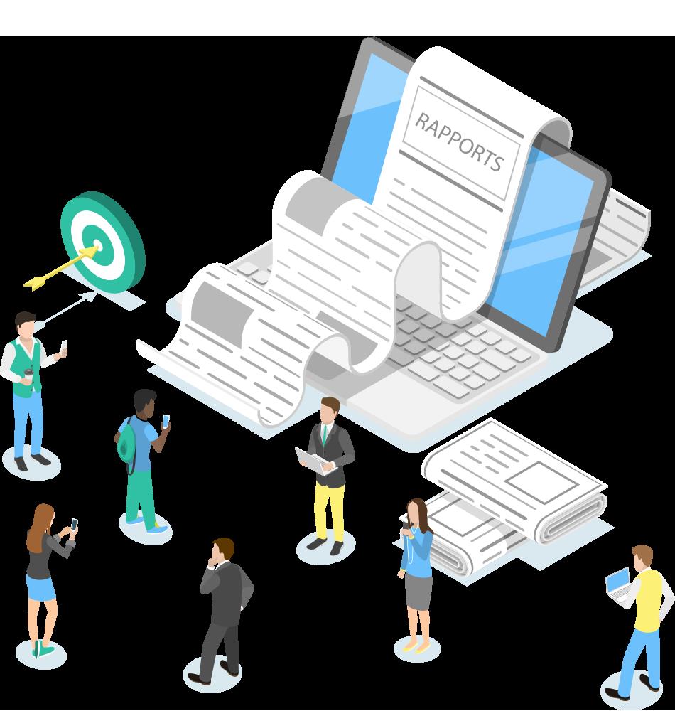 Avantage : simplifiez la rédaction de vos rapports et livrables